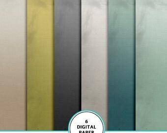 Masculine gradient paper kit, digital scrapbook paper, gradient background, printable paper, instant download,  Masculine digital paper