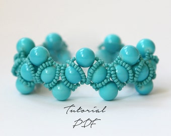 Bracelet Pattern/Bracelet Tutorial/Beading Bracelet Pattern/Beading Bracelet Tutorial/Beaded Bracelet/Beaded Jewelry/Jewelry Pattern/PDF