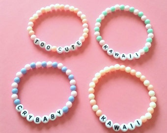 Kawaii Stretchy sayings bracelets