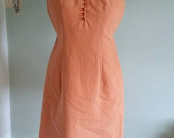1960s orange shift dress