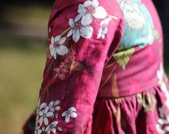 The Winnie Dress - long sleeved dress - fall dress - girls dress - girls winter dress - sleeved dress - burgandy maroon - toddler dress fall