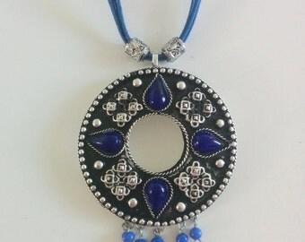 Blue n Silver Necklace n Earring Set