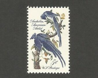 10 Blue Jay Vintage Postage Stamps, 5 Cents, Unused # 1241