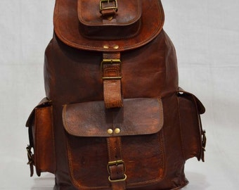 special for christmas handmade leather school backpack