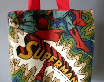 Superman tote shopping bag.