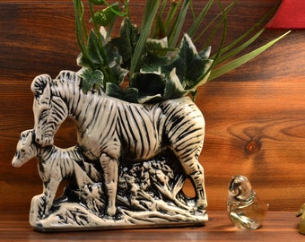 McCoy Pottery  Zebra Planter, 1956-57