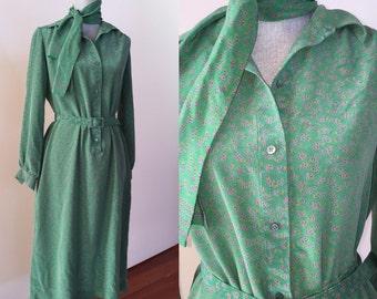 Nat Kaplan Couture  Silk dress 1970's Vintage