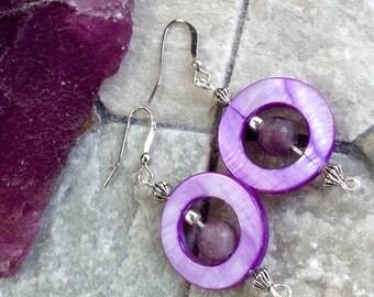 Pretty purple hoops