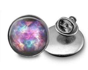 Nebula Glass Tie Tack 16mm Tie Pin Lapel pin