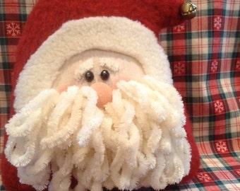 Santa shelf sitter,Santa,shelf sitter,Christmas decor,holiday decor,country Santa,primitive Santa,rustic, Santa,holiday shelf sitter,sitter