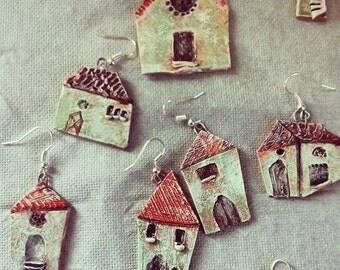 earthen houses earrings