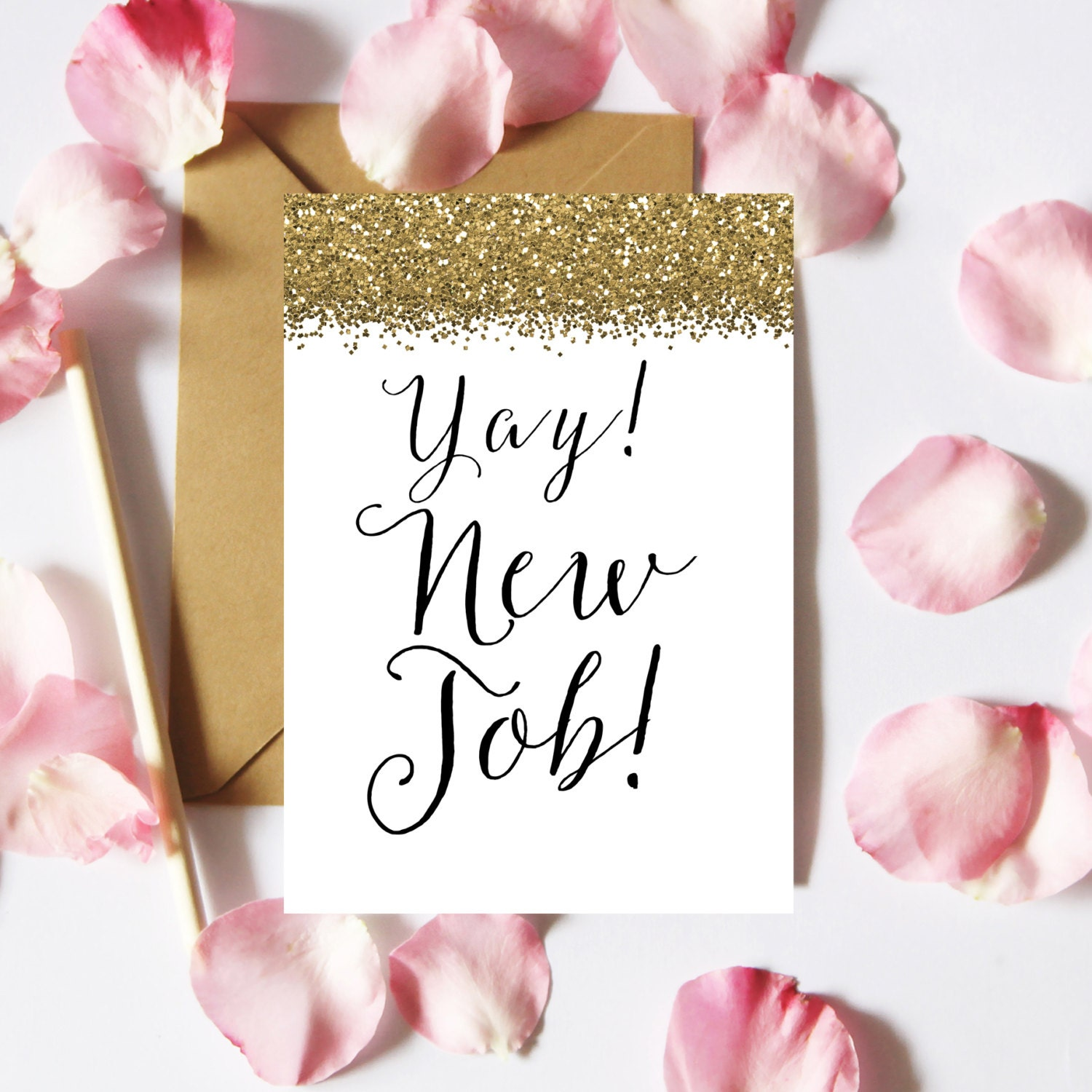 Congrats On Your New Job Quotes: Yay New Job Card Printable New Job Card Congrats New Job