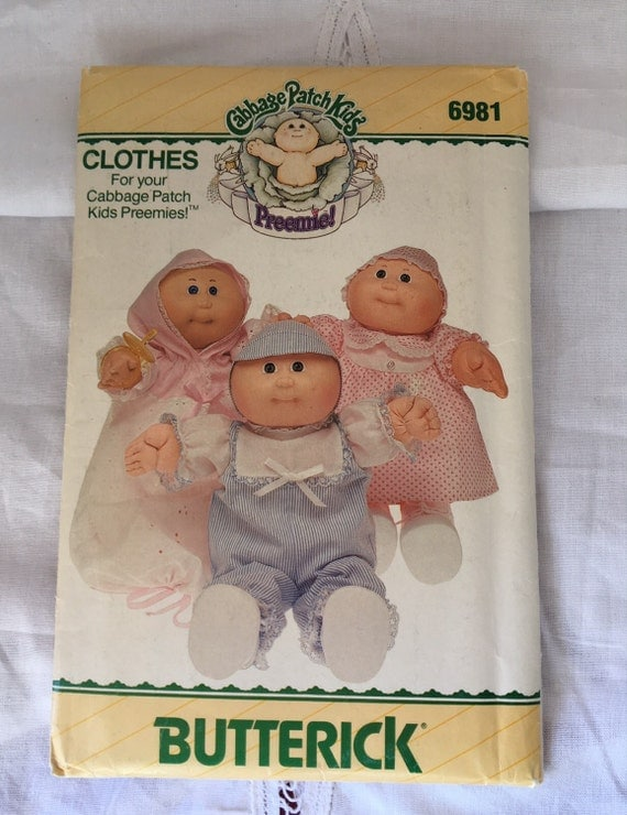 vintage cabbage patch doll clothes pattern by