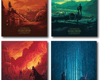 Star Wars - Force Awakens - Set of 4 Graphic Prints