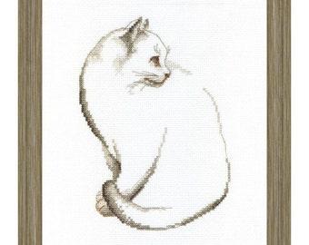 Cross Stitch Kit Grey cat