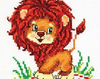 Cross Stitch Kit Lion cub
