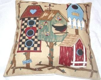 Home Tweet Home folk art cushion