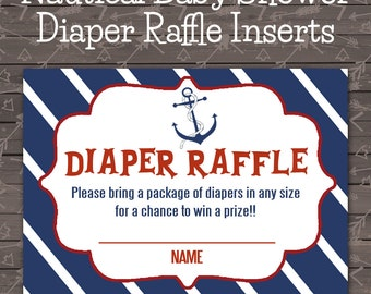 Nautical Baby Shower Diaper Raffle
