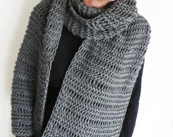Super soft chunky scarf Long scarf Winter scarf Knitted scarf High Quality Anti-Pilling Acrylic scarf Long scarf Lace pattern Eternity scarf