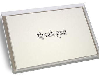 Blackletter Hot Foil Thank You Cards