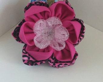Hot Pink Hair Clip, Cheetah Print