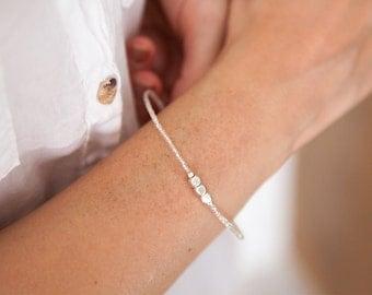 Skinny Silver Cube Bracelet Tiny Cube bracelet Geometric Bracelet Stacking Bracelet Silver cube bracelet Silver geo bracelet Skinny Bracelet