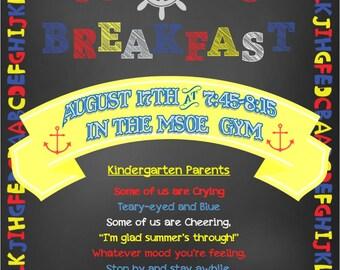 Boo Hoo Kindergarten Breakfast Invitaion