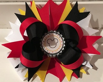 Mickey Mouse Bottle Cap Bow