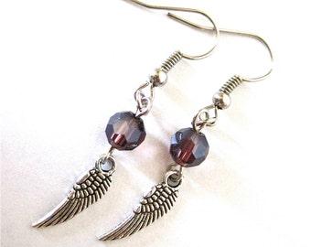 Angel Wing Charm Earrings