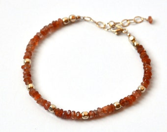Sunstone Beaded Bracelet - Orange - Beaded Bracelet - Classic