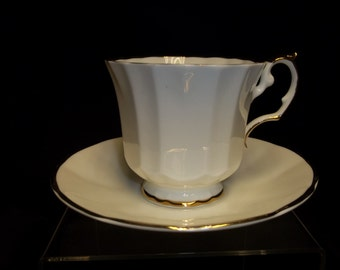 Royal Crest Bone China Cup and Saucer, Made in England Vintage Item #1204