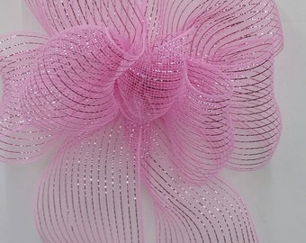Baby Pink Mesh Bow