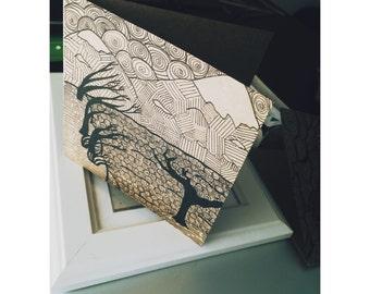 "Handmade card ""Mountains"""