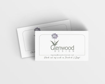 Business Logo Design and Printed Business Cards Package, Gloss or Matte Finish, One-sided, Full Color