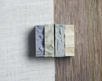Men's Soap Set, Men's Gift Set, Natural Skincare, Vegan Soap, Cold Process Soap, Travel Soap Set, Natural Clay Soap, Gift for Husband