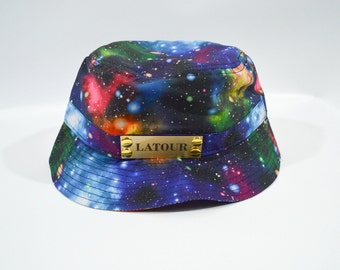 Blue Galaxy Bucket Cap
