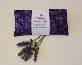 Relaxing Lavender Eye Pillow with Removable Cover