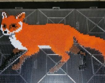Perler Bead Art - Fox