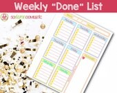"Weekly ""Done"" L..."