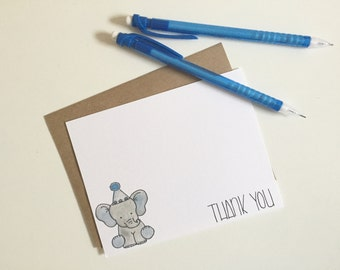 baby elephant thank you cards // note cards // elephant