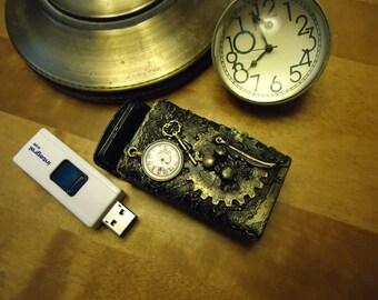 Unique Steampunk Pill Box Trinkets  Jewellery Tin