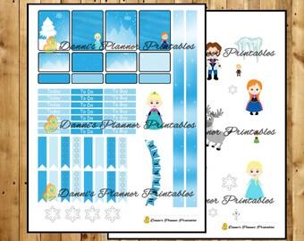 Frozen Weekly Printable Planner Kit