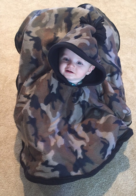 The Chicago Poncho Car Seat Poncho Baby Wearing Poncho Camo