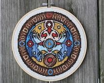 Zelda: Majora's Mask Clock Face - Cross Stitch Pattern