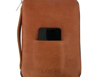 Leather Organizer, Business Portfolio, Travel Portfolio with Removable iPad/Tablet Leather Case