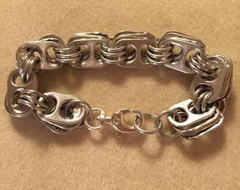 soda tab and aluminum bracelet