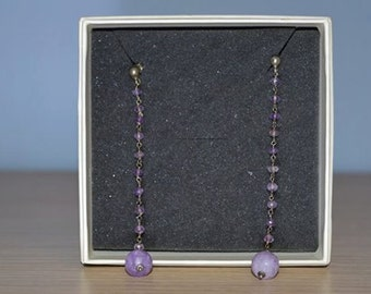 Lady violet earrings
