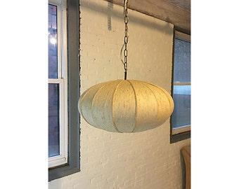 George Nelson Style Saucer Pendant, Vintage Lighting, George Nelson