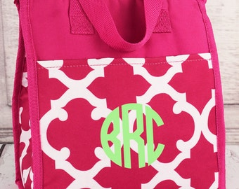 Monogrammed Lunch Box - Lunch Bag
