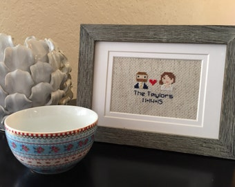 Two Person Custom Made-to-Order Cross Stitch
